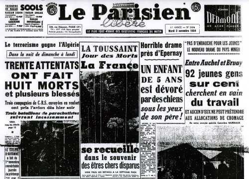 La Guerre d'Algérie en images Parisien-2-11-54