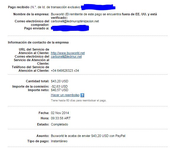 14ª Pago Buxworld $ 43.20 7hc9C