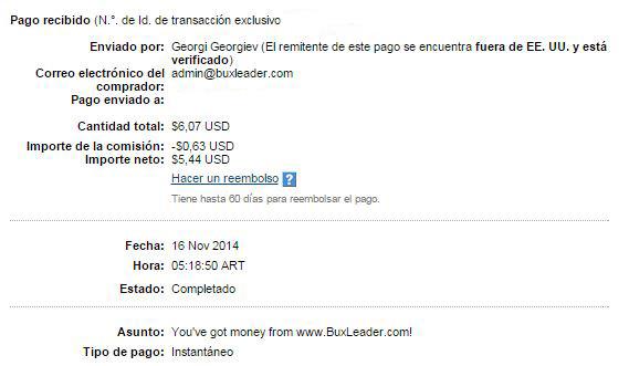 6ª Pago Buxleader $6.07 Paypal 91QUf