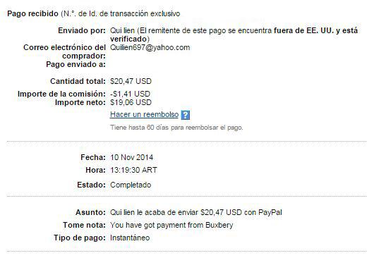 8° Pago Buxbery exPTCbery $20.47 D9fp