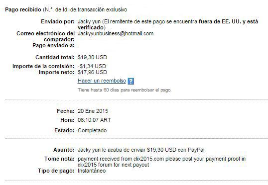 3° Pago Clix2015 $ 19.30 Paypal Gfx3k
