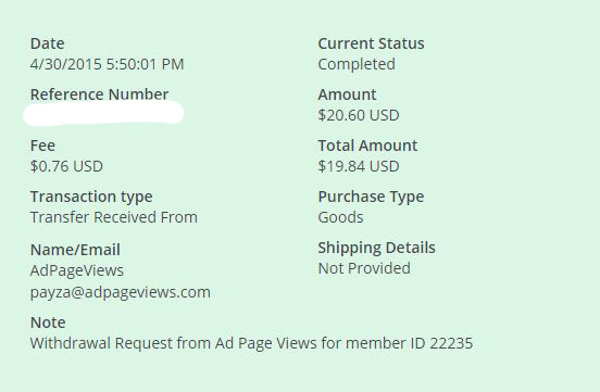 8ª Pago AdPageViews $ 20.60 Payza - Pago Instantaneo TvC7h