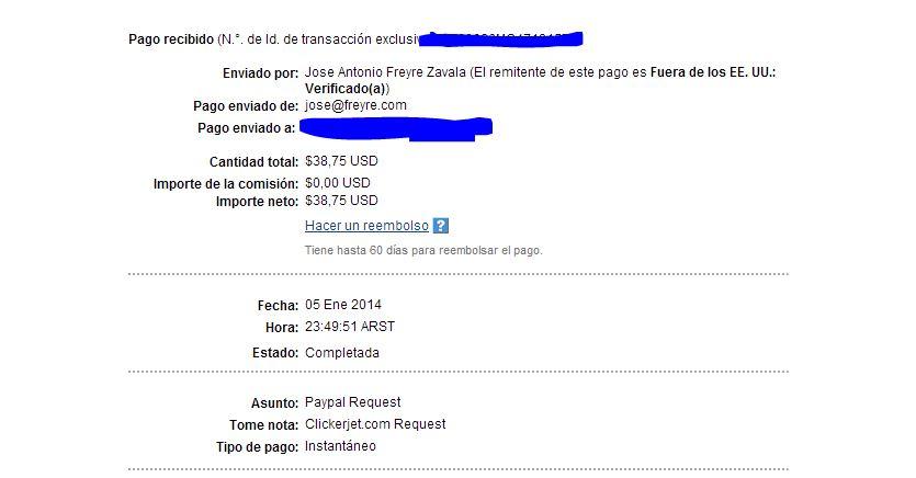 7ª Pago Clickerjet paypal $38.75 cada dia mejor!! YGXE3
