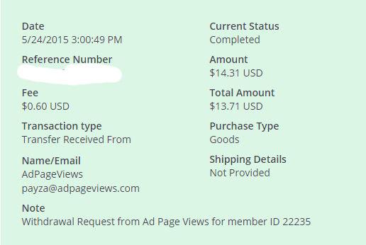 10ª Pago AdPageViews $ 14.31 Payza - Pago Instantaneo HfL8Y