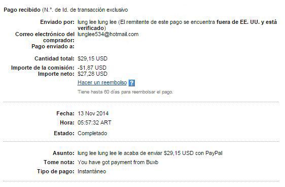 9° Pago Buxbery exPTCbery $29.15 Paypal KxLYw