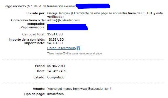 5ª Pago Buxleader $5.24 PV0cM