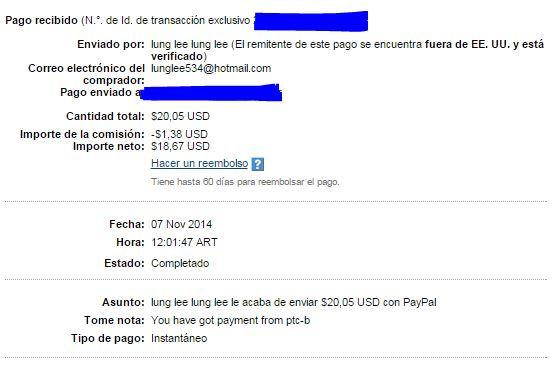 6ª Pago PTCbery $20.05 QBPrE