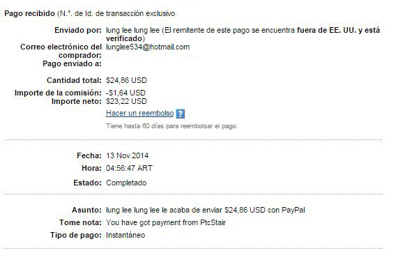 12° Pago PTCStair $ 24.86 paypal Te7A