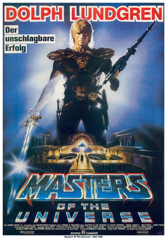 Masters of the Universe (Masters Del Universo) 1987 MASTERS%20german%20theatrical%20poster2