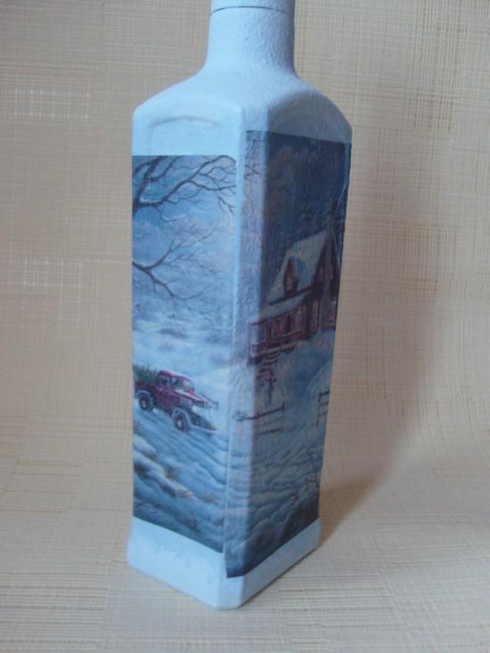 Как сделать декупаж новогодних бутылок Dekupazh-novogodnikh-butylok-13