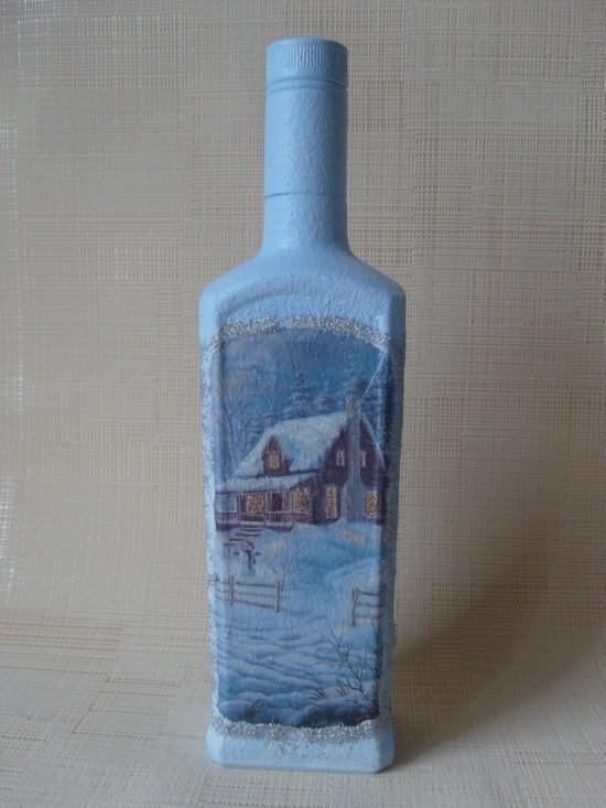 Как сделать декупаж новогодних бутылок Dekupazh-novogodnikh-butylok-20