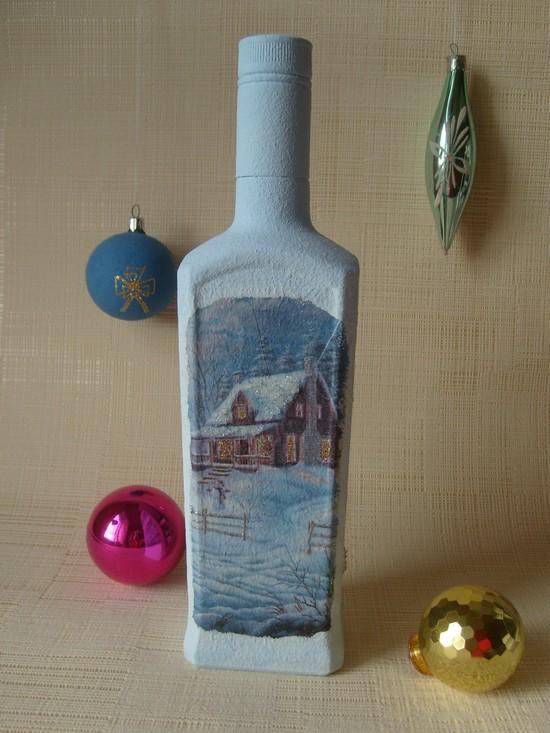 Как сделать декупаж новогодних бутылок Dekupazh-novogodnikh-butylok-21