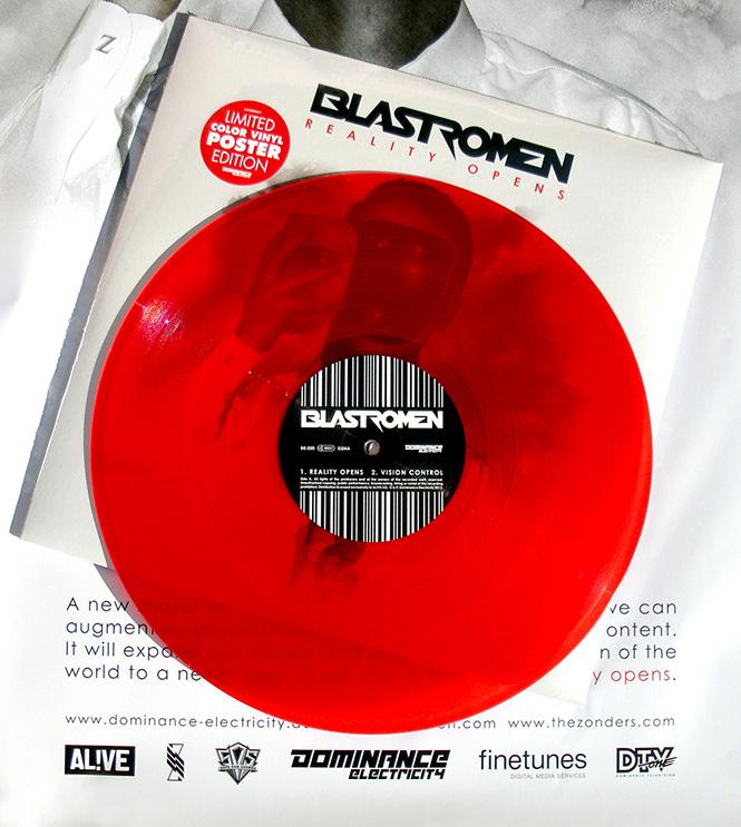 "BLASTROMEN ""Reality Opens"" new album (Dominance Electricity) Vinyl CD Poster DE020_vinylROT-photo665"