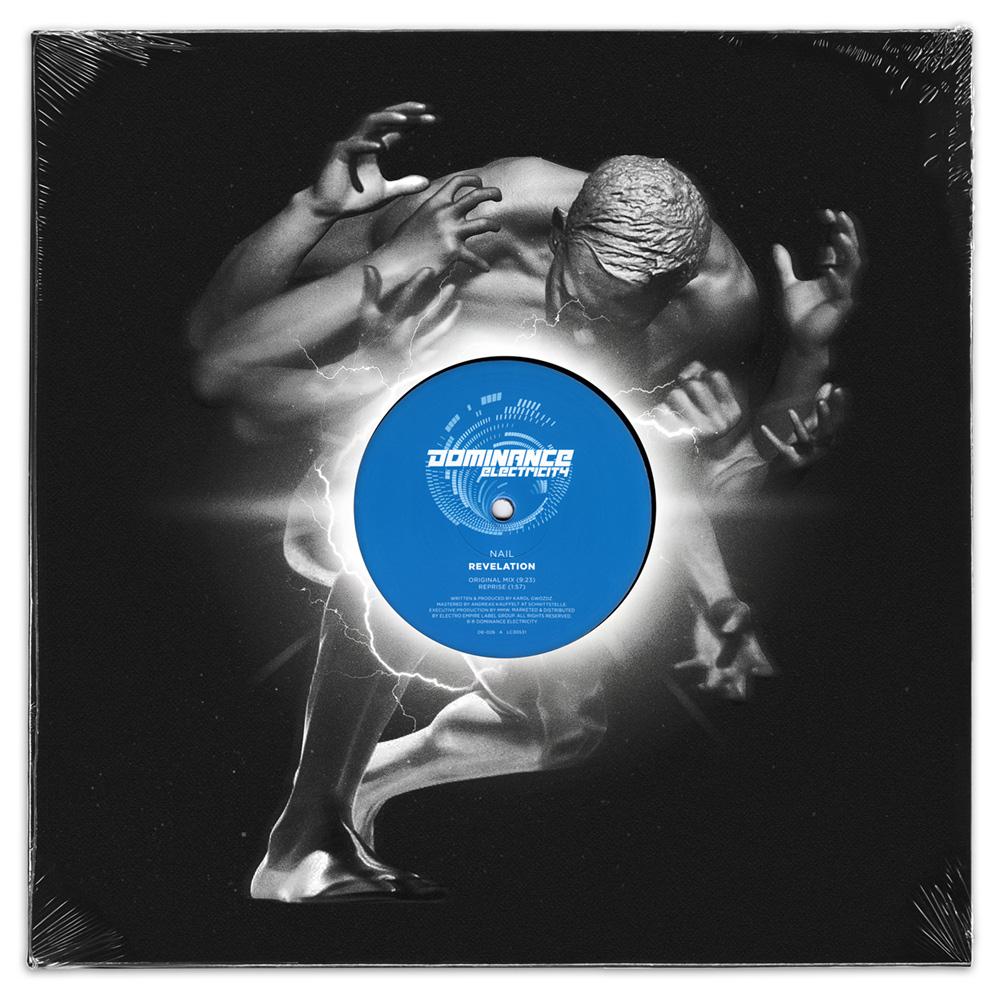 """Dominance Electricity pres. NAIL - Revelation (12"""" vinyl) out now! DE026-vinylcover-1000"""