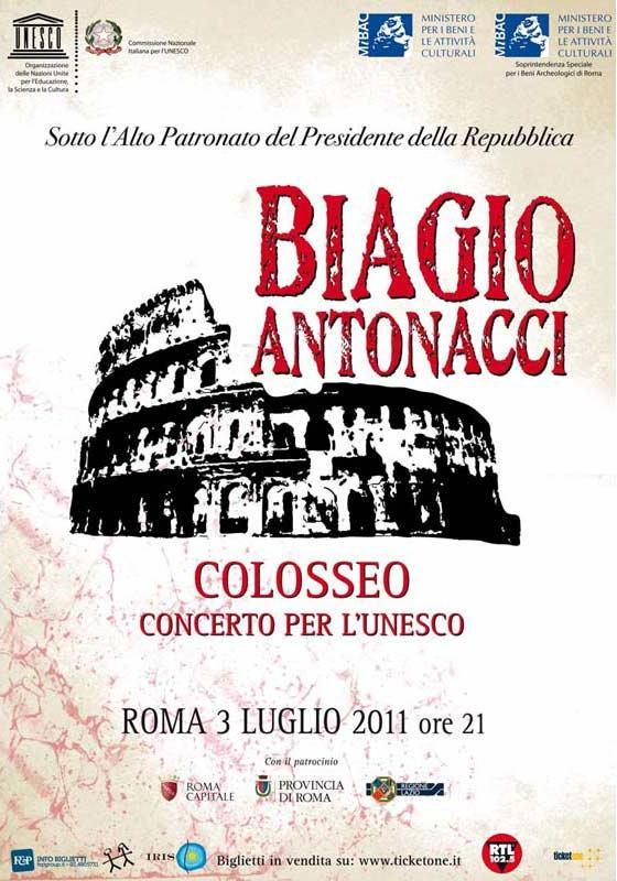 BIAGIO ANTONACCI - TOUR E DATE CONCERTI Colosseo2