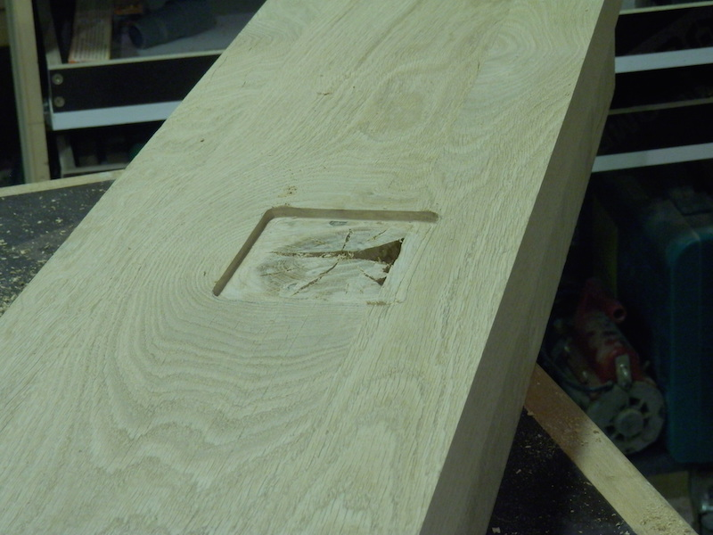 Escalier en chêne 2 virages + mezzanine P9220123