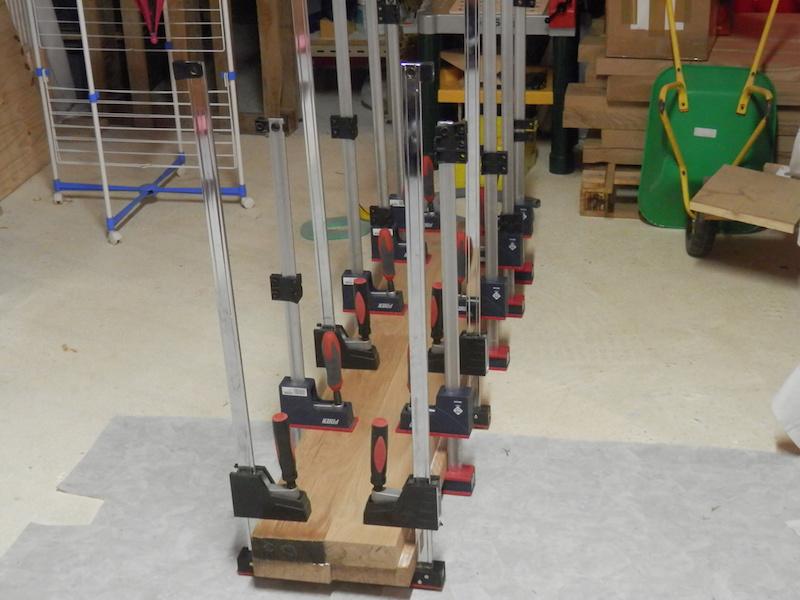 Escalier en chêne 2 virages + mezzanine PA060076-2
