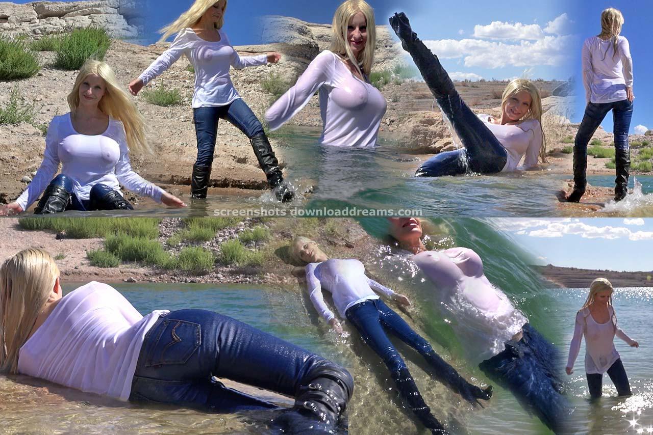 Эффектные сливы воды из сапог. Wetlook_at_the_lake_4_screenshots