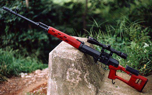 سلاح قناص بغداد .... سلاح دراغونوف الروسي... تبوك العراقي .....  Dragunov_airsoft