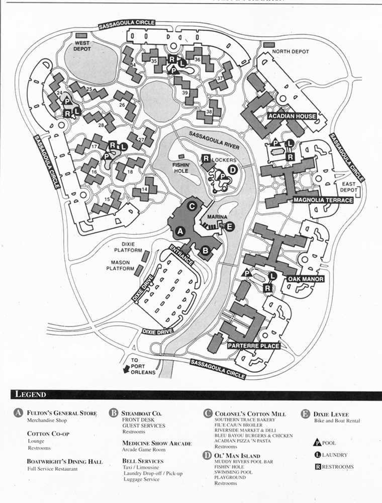 Plans (parcs+Hôtels de WDW) Dixiemap