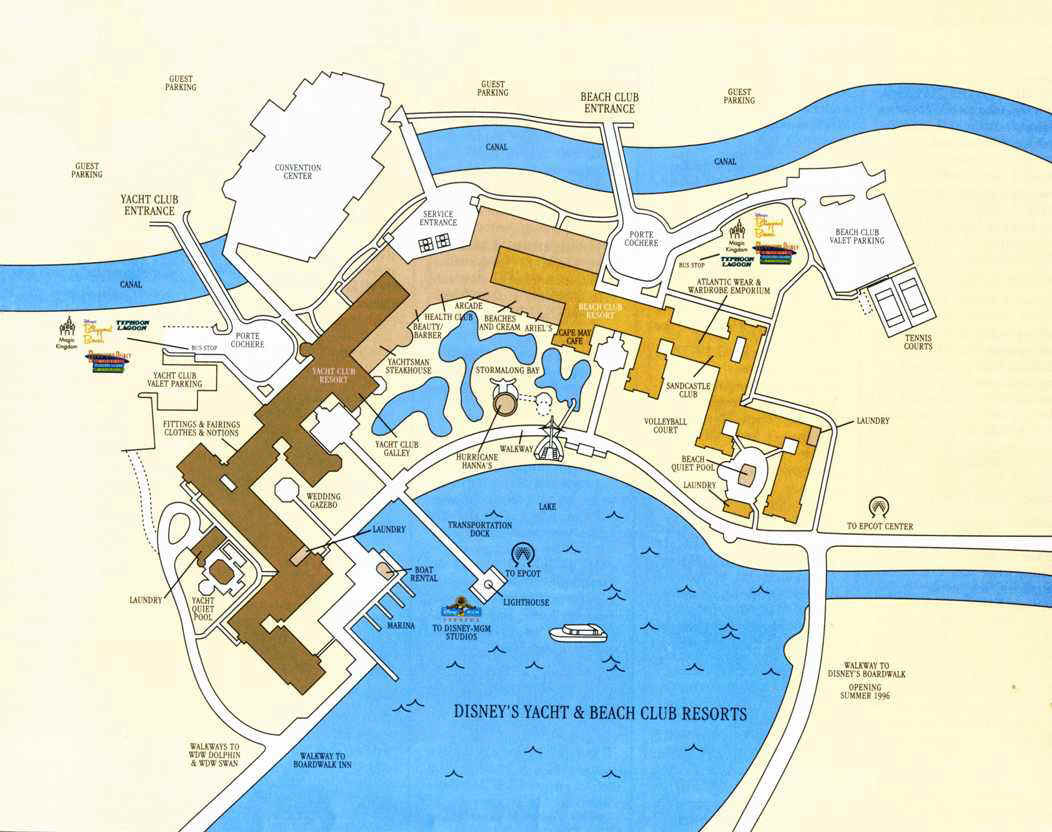 Plans (parcs+Hôtels de WDW) Yachtbeach