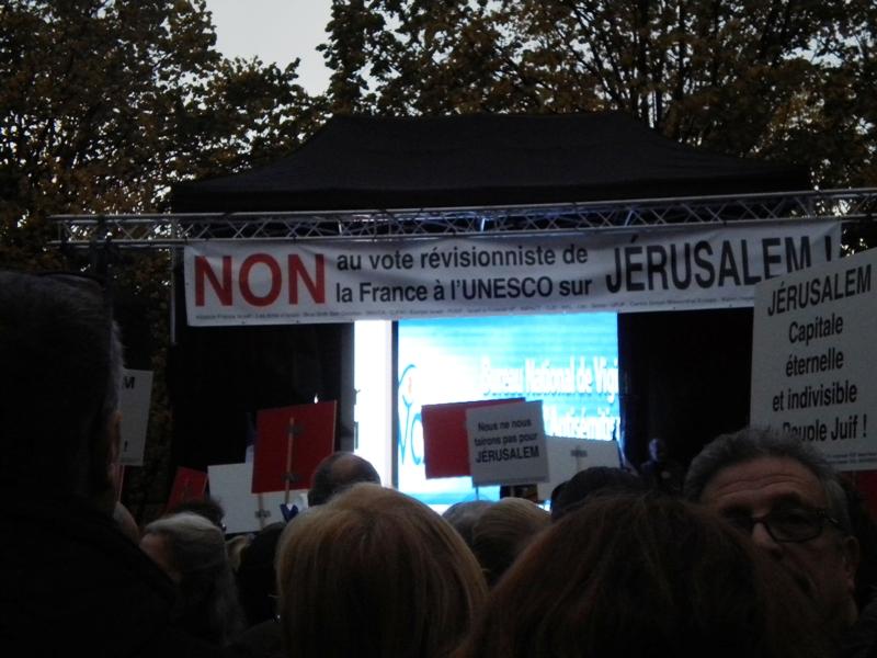 Un Chrétien doit-il être politiquement Sioniste? - Page 20 Protestation-vote-Unesco-2