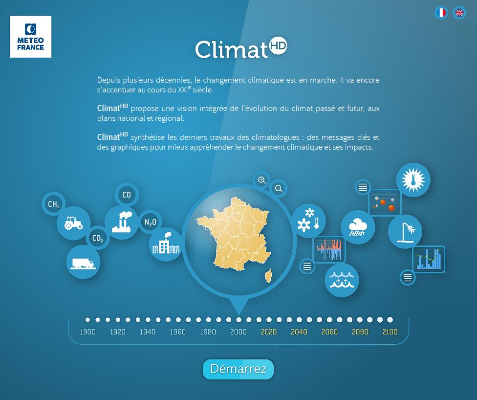 Pour anticiper les conséquences du changement climatique au niveau régional : Application Climat-HD  Climat-HD_0
