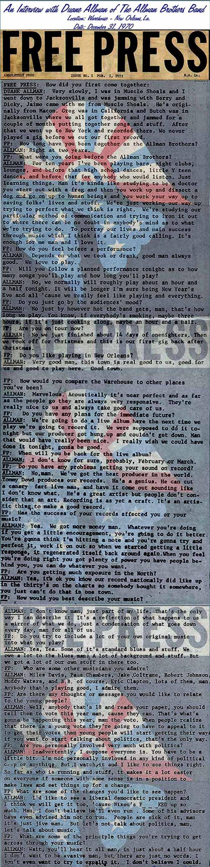 The Allman Brothers Band - Presse non Francophone Freepress02011971
