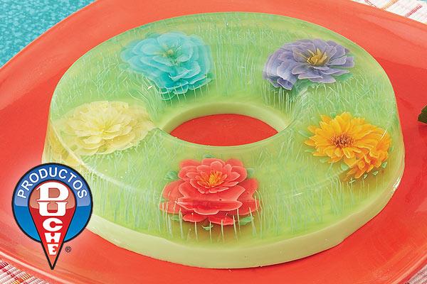 ♥ Gelatinas decoradas Jardin de Flores ♥ 48-03