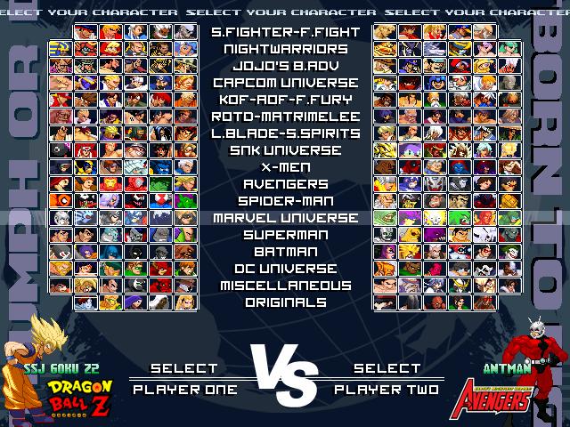 Mugen Multiverse - Cross generation of fighters. MvDvSvC evolution. 130414