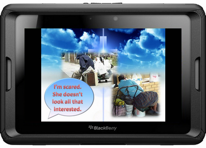"""2011 may not be """"the year of iPad 2"""" as Steve Jobs said himself,  but it will surely be the year of tablet. Following Apple's iPad series,  Samsung's Galaxy Tab series and Motorola's Xoom, RIM has released its own  Blackberry tablet Playbook. Since  RIM's PPT2Blackberry-Playbook-effect"""
