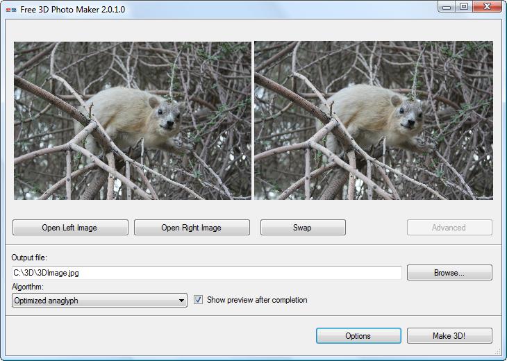 Free 3D Photo Maker ver.2.0.15 - κάντε τις φωτογραφίες σας 3D Free3DPhotoMaker_big