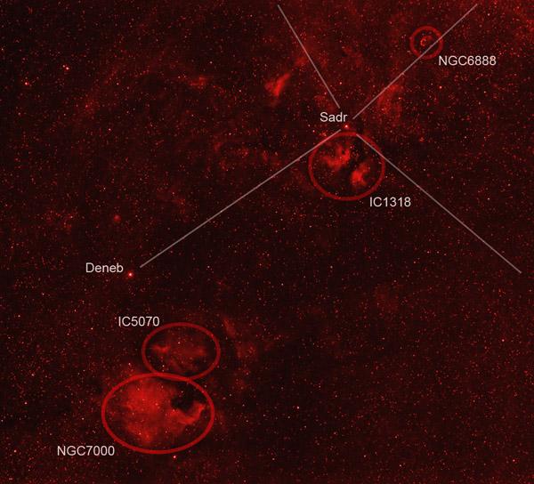 Le cygne en H-alpha Cygne_70mm_legende