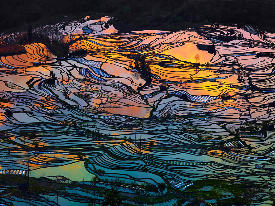 24 Entrancing Rice Fields That Resemble Broken Glass Terraced-rice-fields-1__880