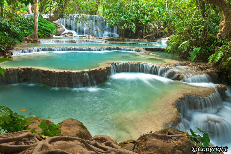 World's Most Amazing Waterfalls to Take a Cool Dip Under Kuang-si-waterfall