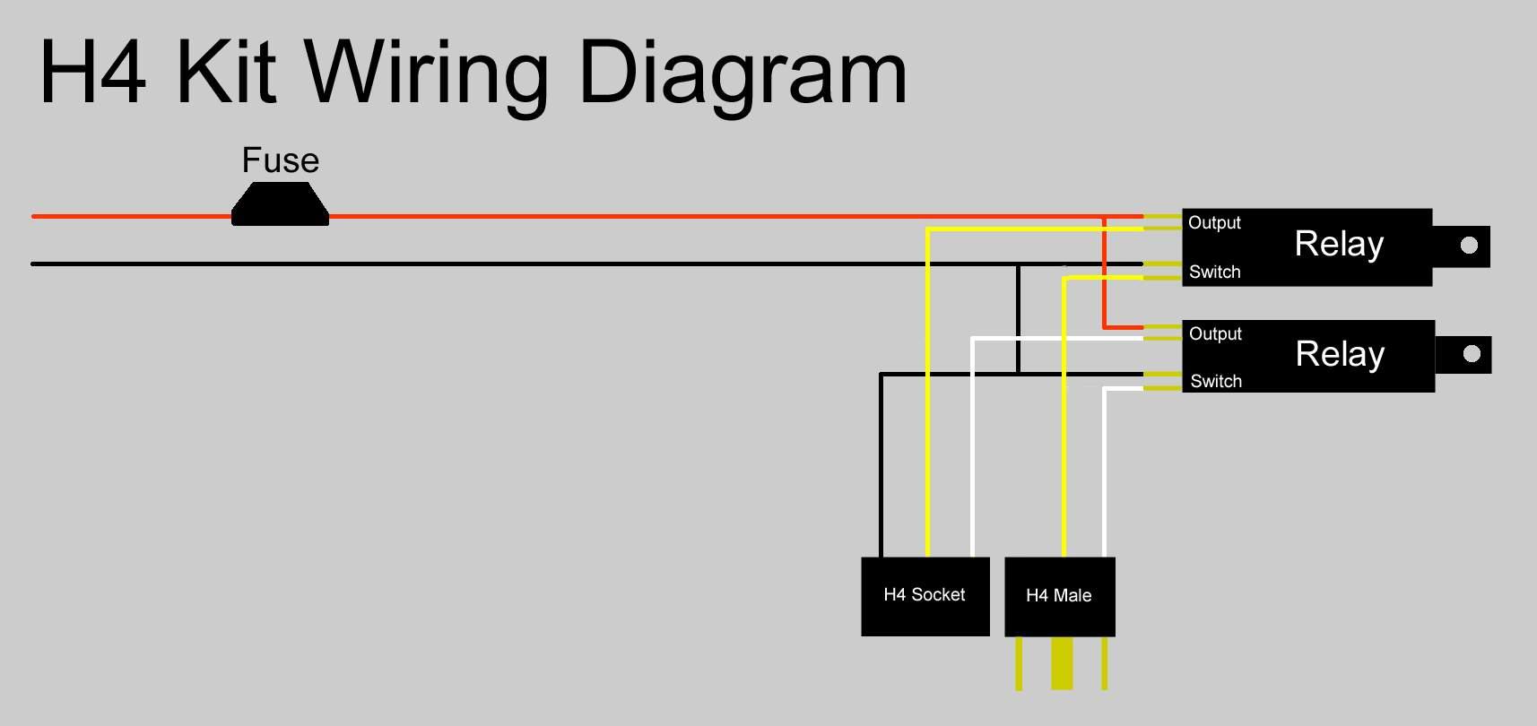 ρελέ(ς) H4kitwiringdiagram
