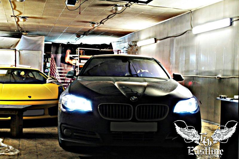 Тюнинг-ателье Eastline Garage. Самоклеющаяся алькантара и кожзам! Q1