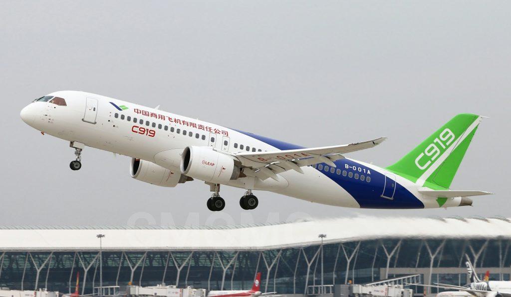 [Aviation] C919, Premier avion de ligne single-aisle chinois - Page 3 2017-11-11-C919-Bye-bye-Shanghai-bonjour-Xian-01-1024x597