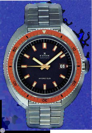 Presento Edox hydro-sub 53200-3OM-NIN 1963-watch