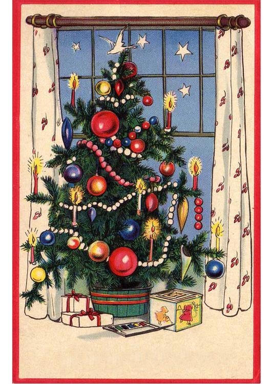 La décoration du sapin! Photo-sapin-de-noel-avec-cadeaux-p20397