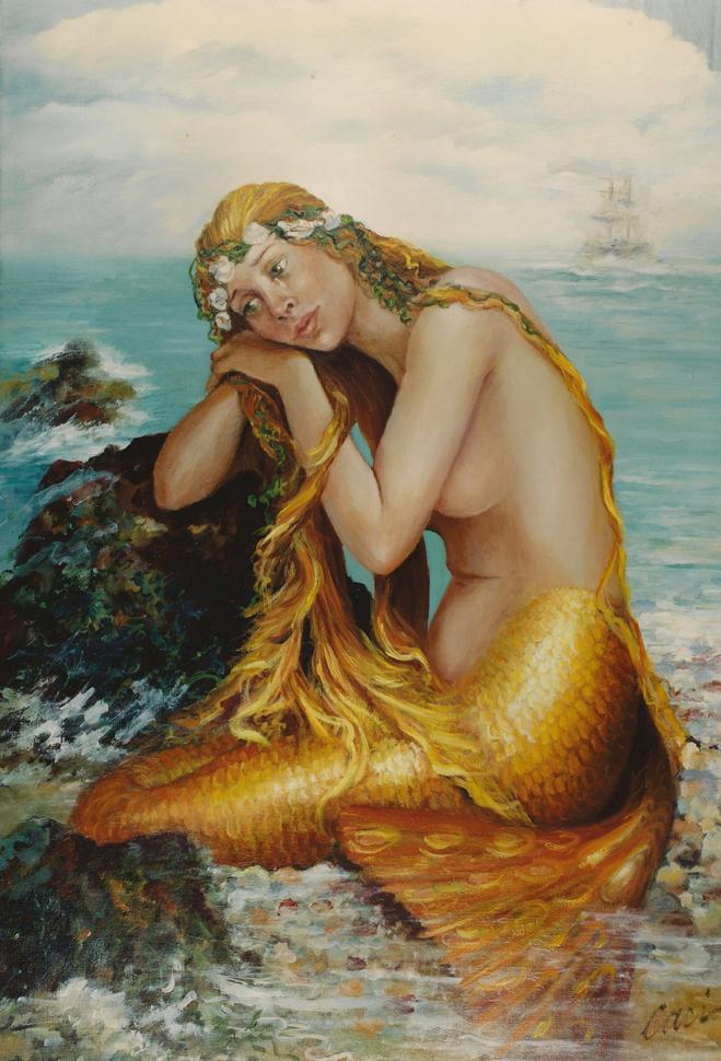 Bienvenidos al nuevo foro de apoyo a Noe #284 / 05.09.15 ~ 09.09.15 - Página 20 Web_a_mermaid_series_number_3_la_sirene_dore_oil_30X40_sold