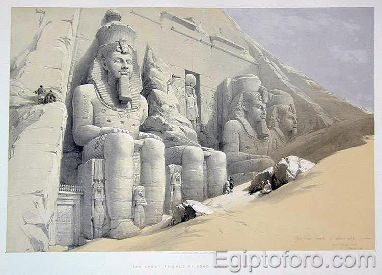 La gran Pirámide de Egipto, podría no ser una pirámide. 2-abu-simbel-roberts