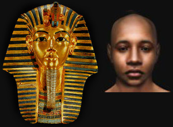 Origine africaine des sciences mathématiques Toutankhamon-masque-visage