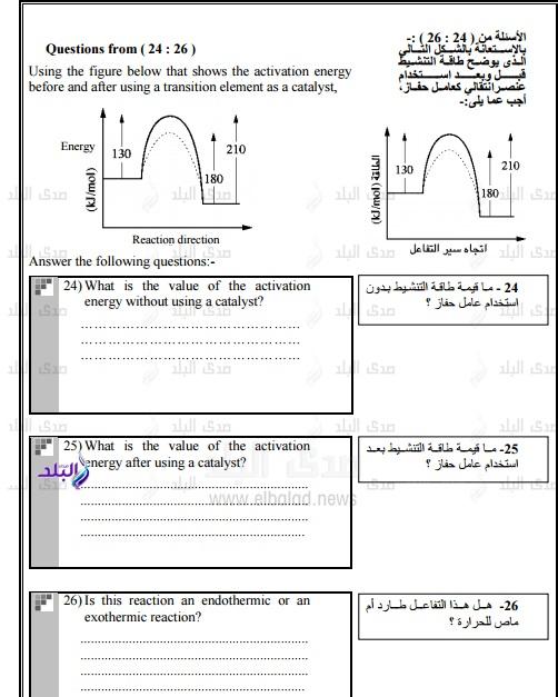 نموذج امتحان الوزارة – بوكليت كيمياء للغات ثانوى عام2017 276