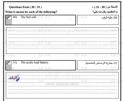 نموذج امتحان الوزارة – بوكليت كيمياء للغات ثانوى عام2017 278