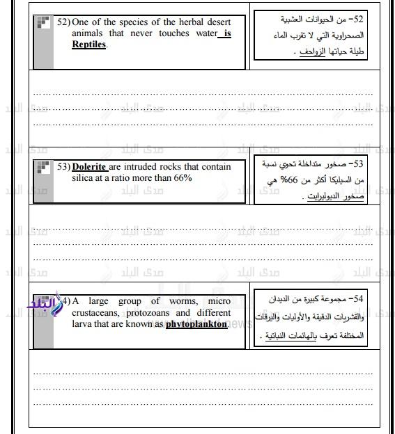نموذج امتحان الوزارة – بوكليت جيولوجيا للغات ثانوى عام2017 342