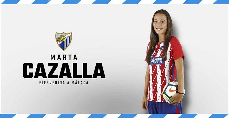 Fichajes del Málaga CF Femenino Marta-cazalla-malaga-cf-femenino-800x412