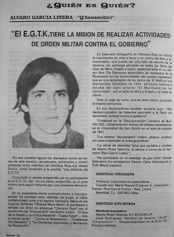 Lo que jode a nuestro hermanos de bolivia. Linera1