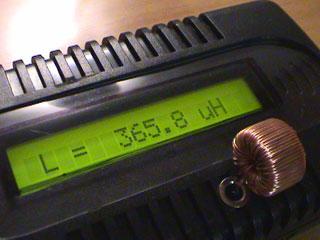 LC Meter com PIC16F628A 365uH