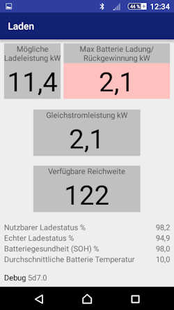Charge lentement sur 22 kW CanZE-Hauptmenue-Laden